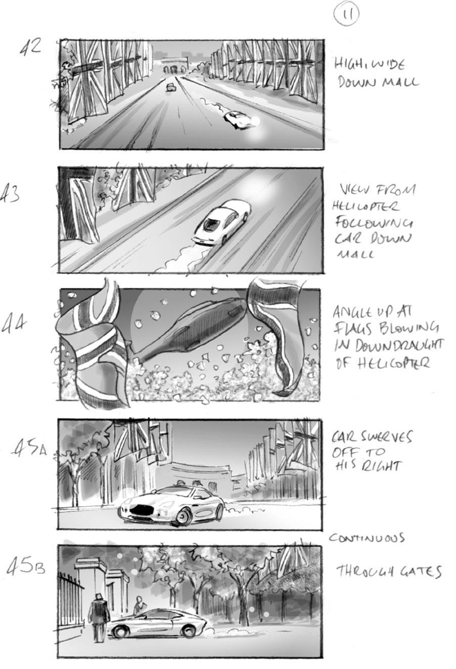 jaguar car commercial by storyboard artist by douglas ingram