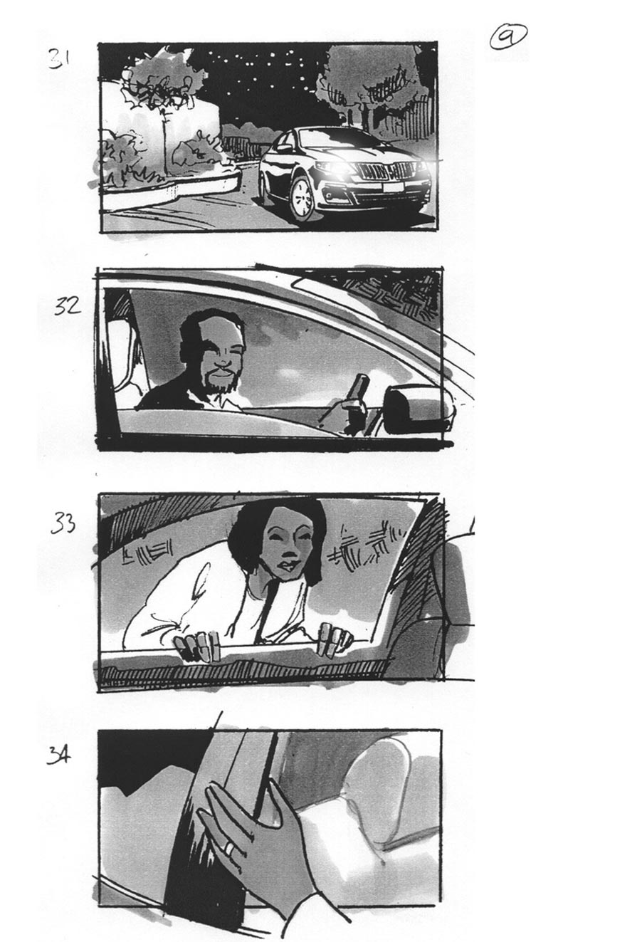 Lincoln Car Commercial By Storyboard Artist By Douglas Ingram