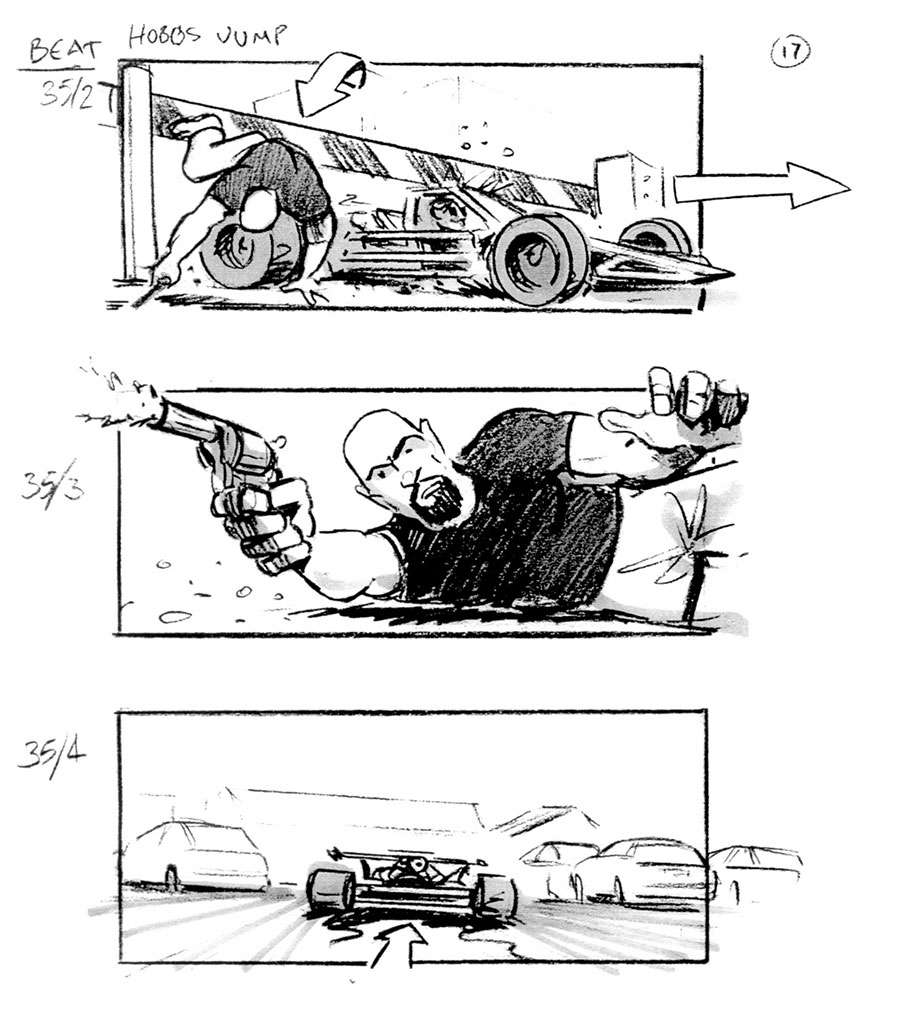 douglas ingram, storyboard art, fast & furious 6
